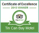 Tin Can Bay Motel - TripAdvisor Certificate of Excellence