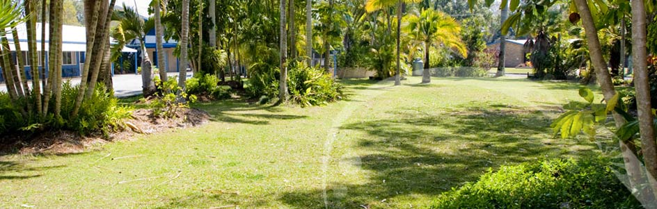 Enjoy our tranquil garden setting @ Tin Can Bay Motel